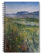 Early Morning Fog In The Foothills Of The Overberg Range Of Mountains Near Heidelberg South Africa. Spiral Notebook