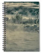 Early Morning Frost On The River Spiral Notebook