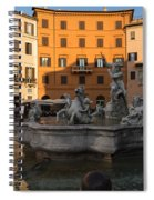 Early Morning Glow - Neptune Fountain On Piazza Navona In Rome Italy Spiral Notebook