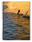 Early Morning Gold At Valletta Fortifications Spiral Notebook