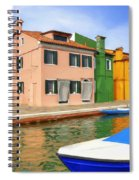 Early Morning In Isola Di Burano Spiral Notebook