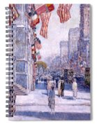 Early Morning On The Avenue In May 1917 - 1917 Spiral Notebook