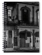 Early Morning Paseo Del Prado Havana Cuba Bw Spiral Notebook