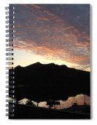Early Morning Red Sky Spiral Notebook