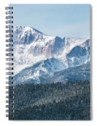 Early Morning Snow On Pikes Peak Spiral Notebook