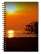 Early Morning Sunrise On A Silhouetted Beach Spiral Notebook