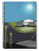 Early Painting Father And Son Aliens Spiral Notebook