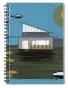 Early Painting Futuristic House Spiral Notebook