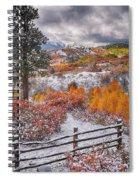 Early Snowfall At Dallas Divide Spiral Notebook