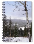 Early Snows In The Rockies Spiral Notebook