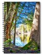 Early Spring On The River Spiral Notebook