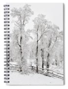 Early Spring Snow Spiral Notebook
