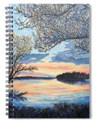 Early Spring Sunset Spiral Notebook