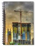 Early Start Skyscraper Construction Atlanta Georgia Art Spiral Notebook