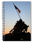 Early Washington Mornings - Iwo Jima Memorial Spiral Notebook