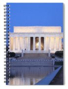 Early Washington Mornings - The Lincoln Memorial Spiral Notebook