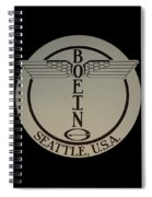 Early Winged Boeing Logo Spiral Notebook