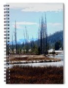 Early Winter On The Yellowstone Spiral Notebook