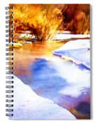 Early Wyoming Snow Spiral Notebook