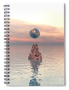 Earth Above The Sea Spiral Notebook