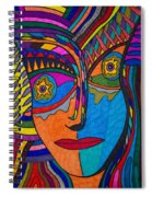 Earth And Aqua Mask - Abstract Face Spiral Notebook