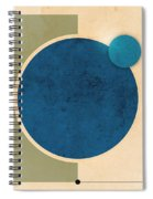 Earth And Moon Graphic Spiral Notebook