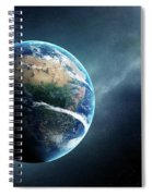 Earth And Moon Space View Spiral Notebook