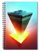 Earth Core Structure Cross-section Spiral Notebook