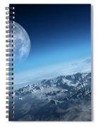 Earth Icy Ocean Aerial View Spiral Notebook