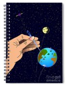 Earth Like An Inflatable Balloon Spiral Notebook