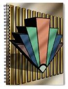 Earth Tones Chevron 3 D Spiral Notebook