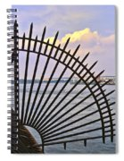 East River View Through The Spokes Spiral Notebook