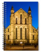 East Side Of Hexham Abbey At Night Spiral Notebook