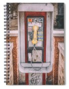 East Side Pay Phone Spiral Notebook