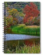 East Trail Pond At Lost Maples Spiral Notebook
