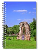 East Window Remains Of Old Church At Ticknall Spiral Notebook