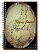 Easter Bunny  Greeting 5 Spiral Notebook