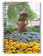 Easter Bunny Topiary Spiral Notebook
