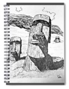 Easter Island Spiral Notebook
