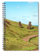Easter Island Moai At Rano Raraku Spiral Notebook