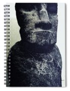 Easter Island Stone Statue Spiral Notebook