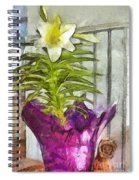 Easter Lily And Doll Spiral Notebook