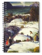 Easter Snow Spiral Notebook