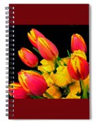 Easter Tulips And Roses Spiral Notebook