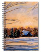 Eastern Townships In Winter Spiral Notebook
