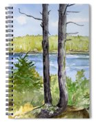 Eastport Maine Coastal Afternoon Spiral Notebook