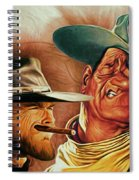 Eastwood And Wayne Spiral Notebook