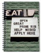 Eat Sign Spiral Notebook