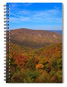 Eaton Hollow Overlook On Skyline Drive In Shenandoah National Park Spiral Notebook