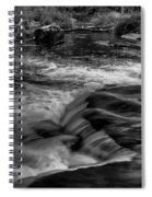 Eau Claire Dells Black And White Flow Spiral Notebook